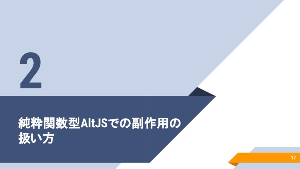純粋関数型AltJSでの副作用の 扱い方 17 2