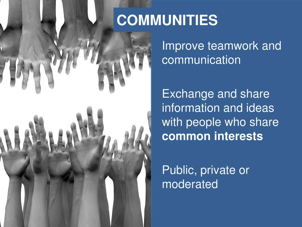 Improve teamwork and communication Exchange and...