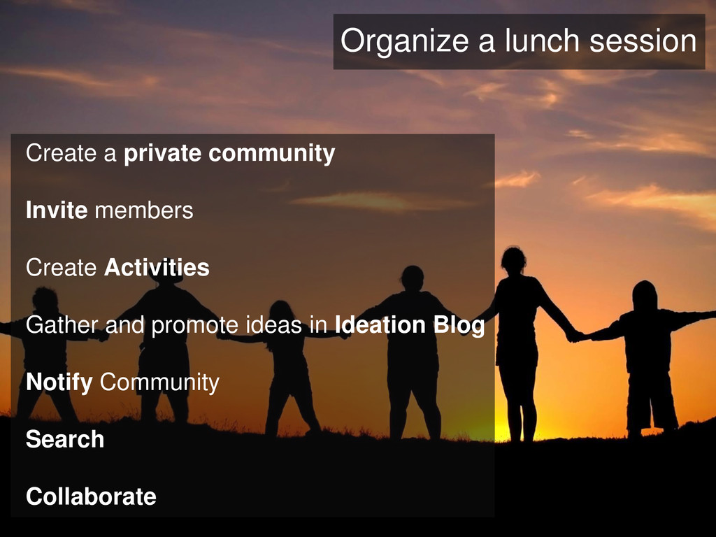 Create a private community Invite members Creat...
