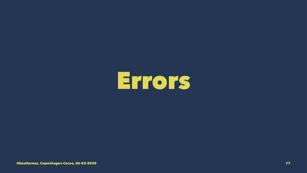 Errors @basthomas, Copenhagen Cocoa, 06-02-2020...
