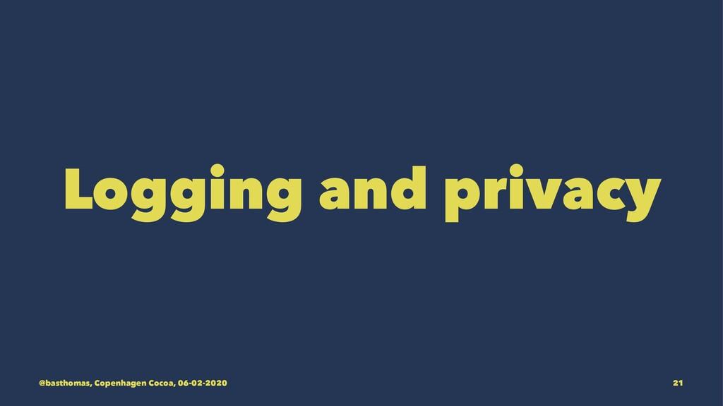 Logging and privacy @basthomas, Copenhagen Coco...