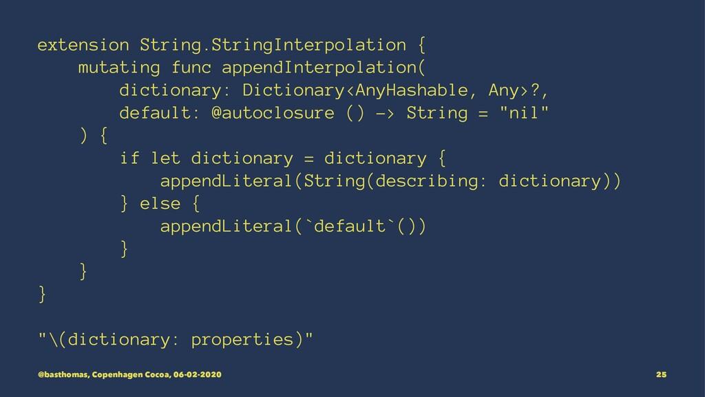 extension String.StringInterpolation { mutating...