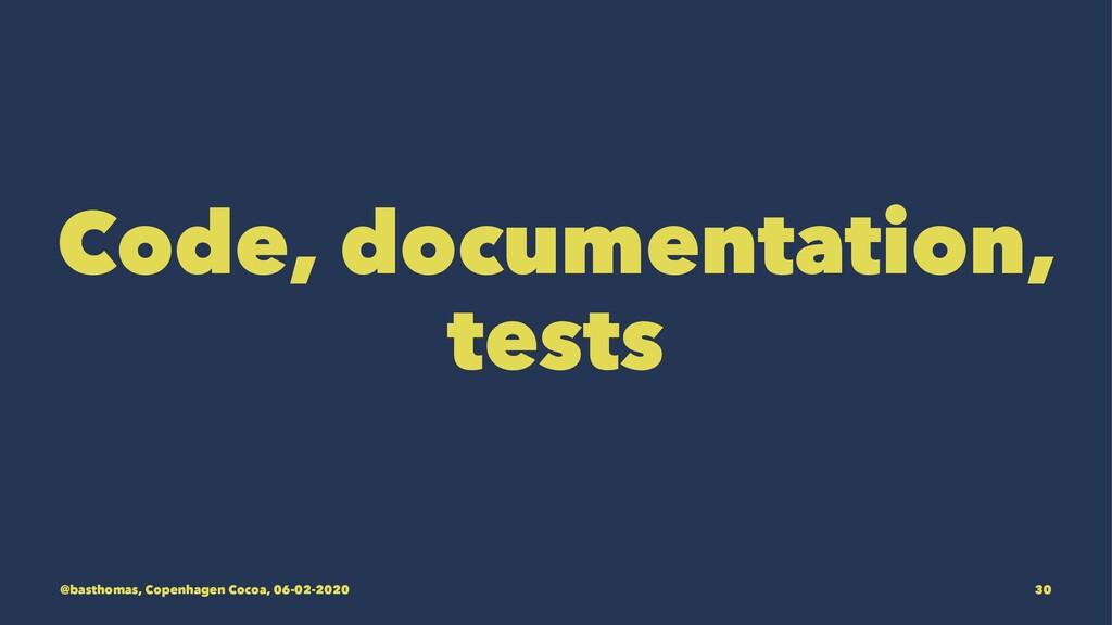 Code, documentation, tests @basthomas, Copenhag...