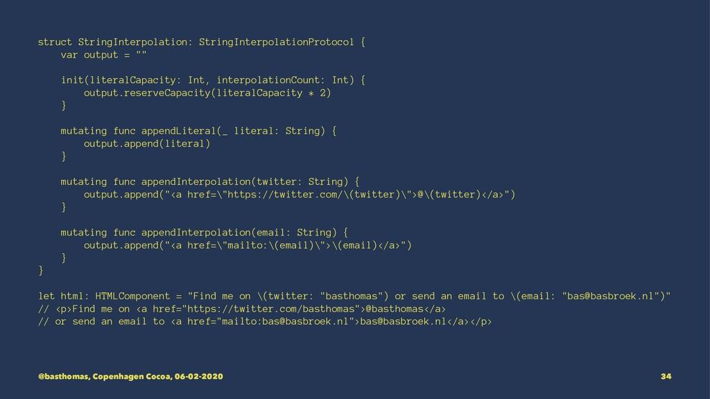 struct StringInterpolation: StringInterpolation...