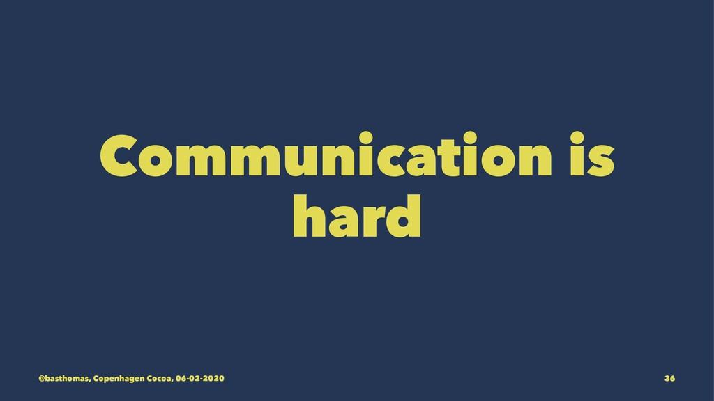Communication is hard @basthomas, Copenhagen Co...