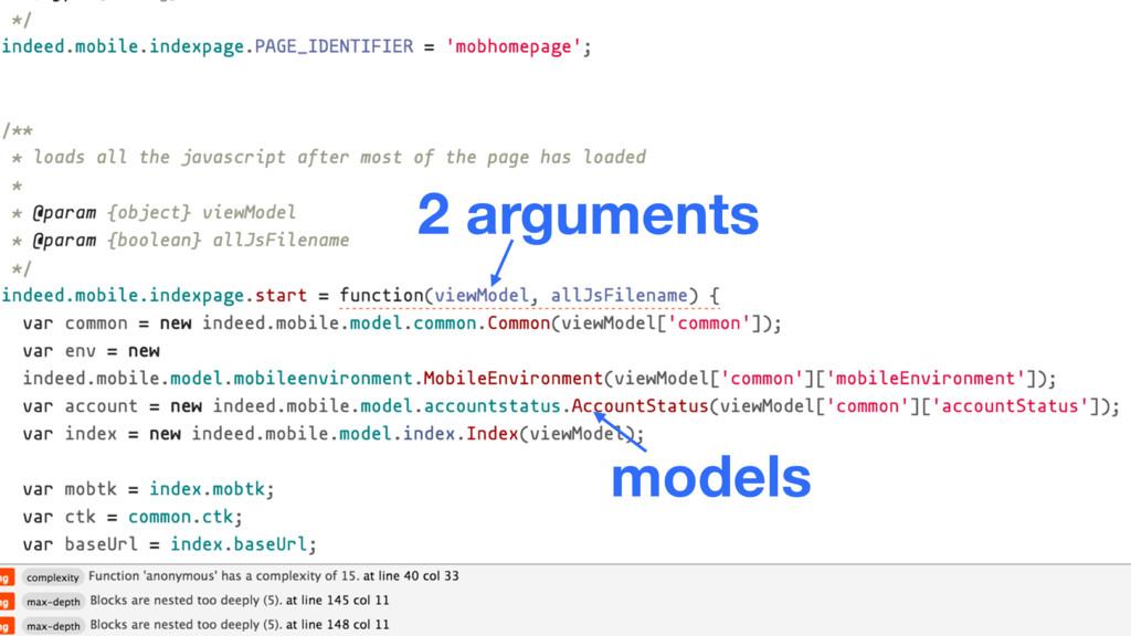 2 arguments models