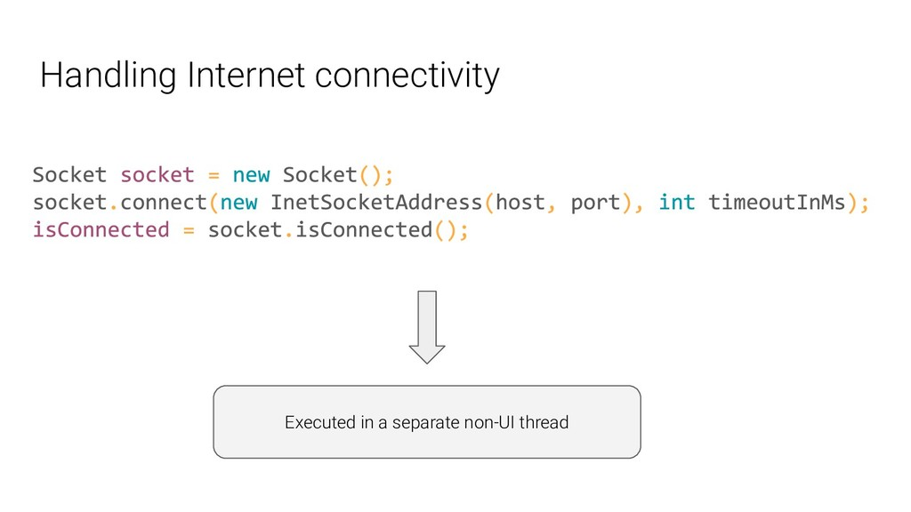 Handling Internet connectivity Executed in a se...