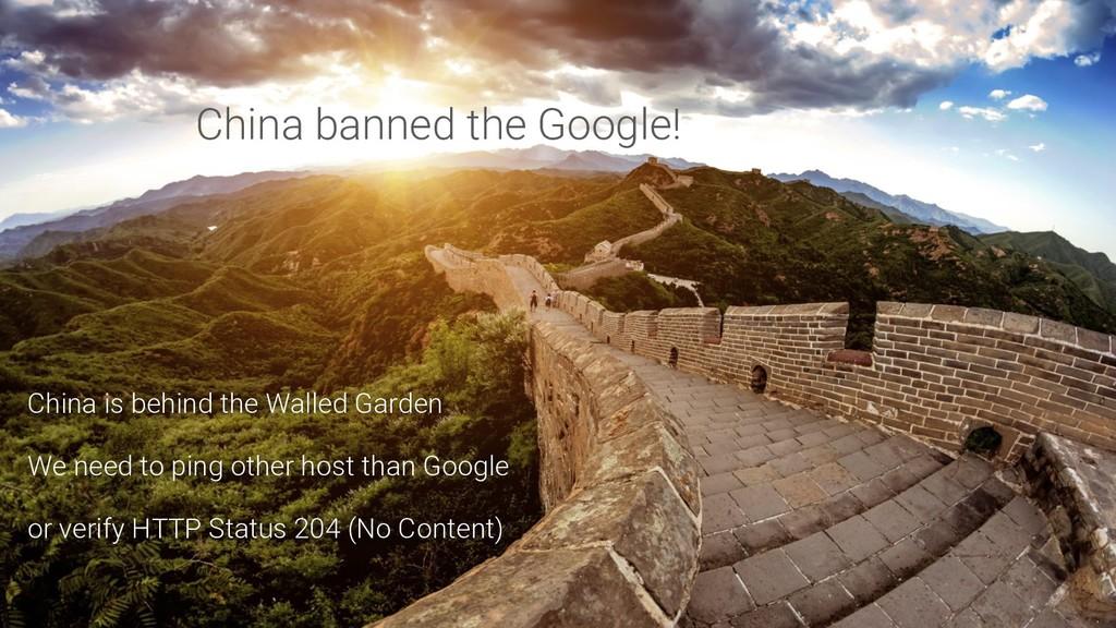 China banned the Google! China is behind the Wa...