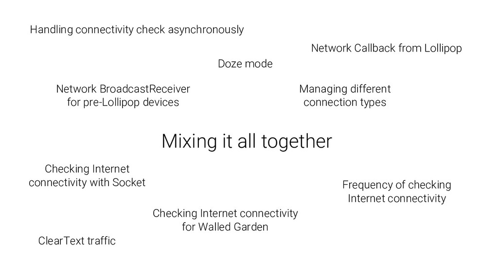 Mixing it all together Network BroadcastReceive...