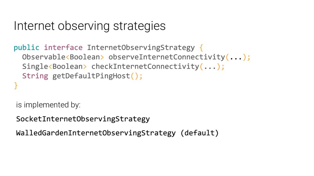 Internet observing strategies is implemented by: