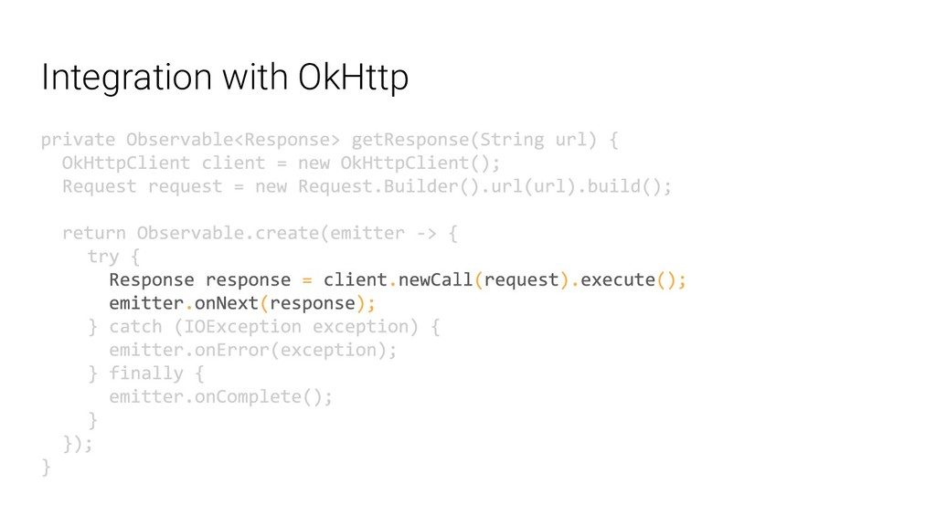 Integration with OkHttp