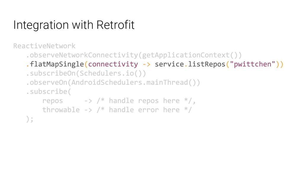 Integration with Retrofit