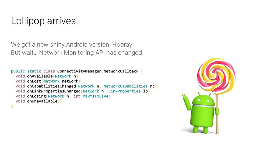 Lollipop arrives! We got a new shiny Android ve...
