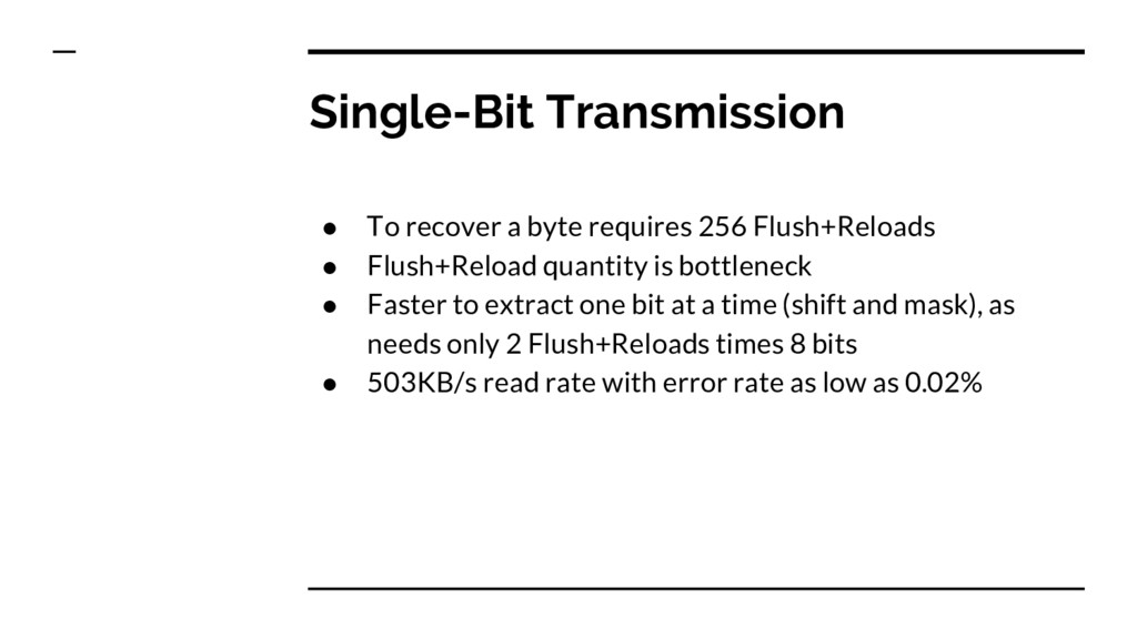 Single-Bit Transmission ● To recover a byte req...