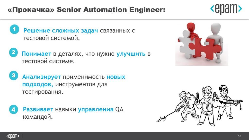 18 «Прокачка» Senior Automation Engineer: Решен...