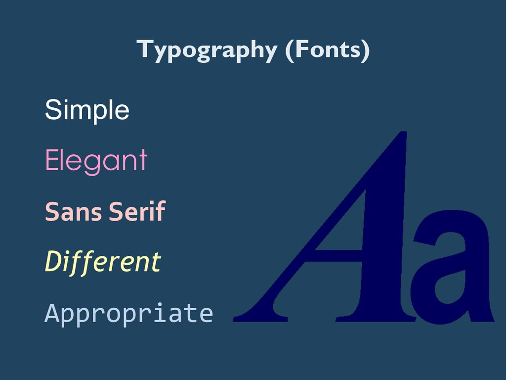 Typography (Fonts) Simple Elegant Sans Serif...