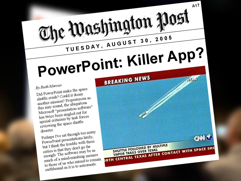 PowerPoint: Killer App? T U E S D A Y , A U G U...