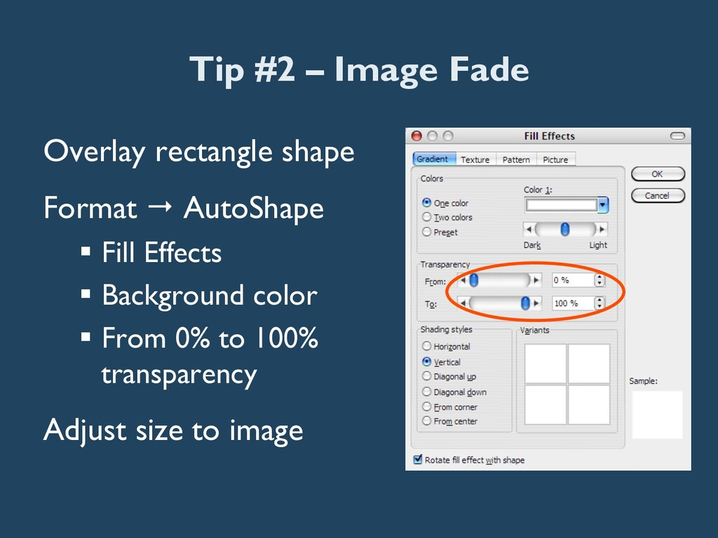 Tip #2 – Image Fade Overlay rectangle shape For...