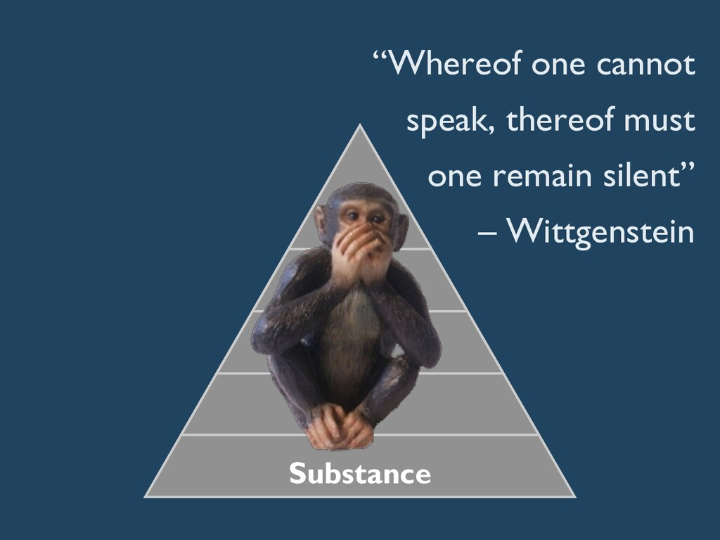 """""""Whereof one cannot speak, thereof must one rem..."""