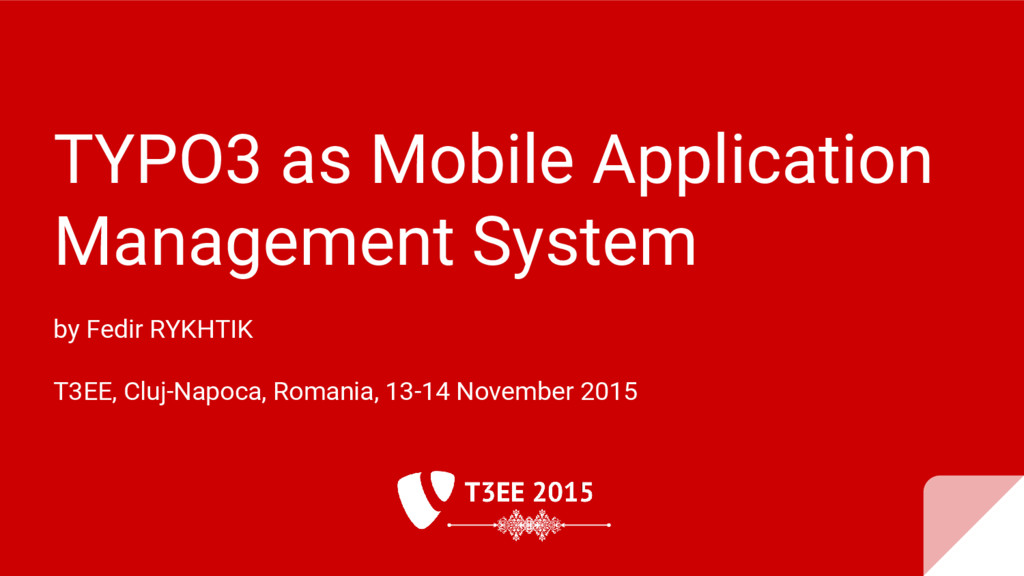 TYPO3 as Mobile Application Management System b...