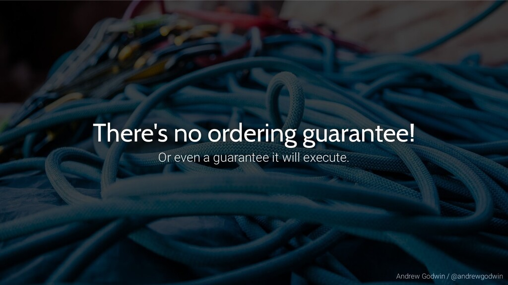 Andrew Godwin / @andrewgodwin There's no orderi...