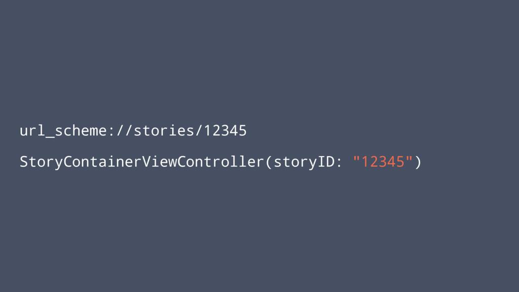 url_scheme://stories/12345 StoryContainerViewCo...