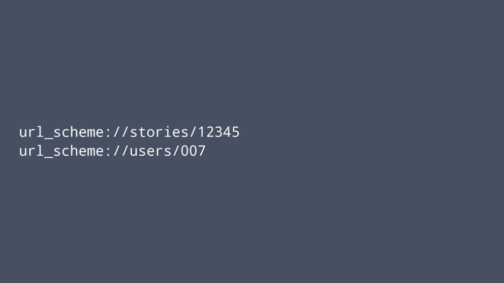 url_scheme://stories/12345 url_scheme://users/0...