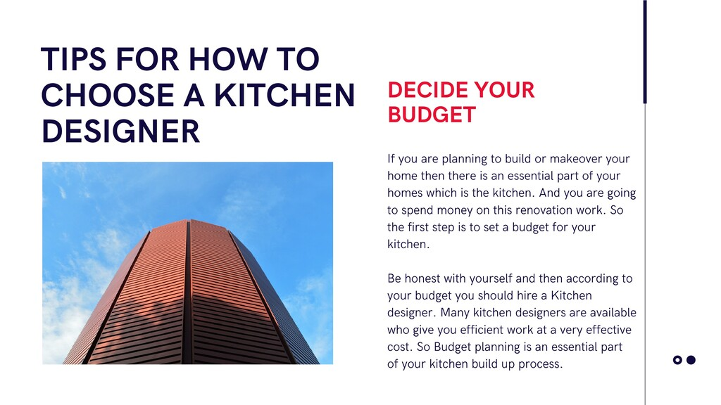 TIPS FOR HOW TO CHOOSE A KITCHEN DESIGNER If yo...