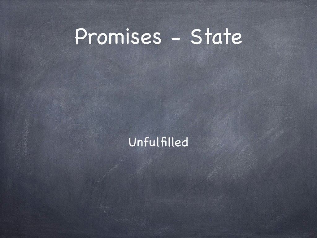 Promises - State Unfulfilled
