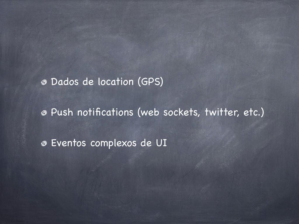 Dados de location (GPS) Push notifications (web ...