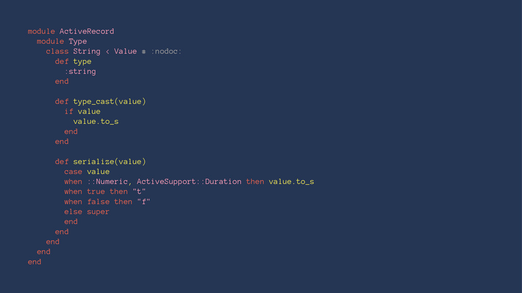 module ActiveRecord module Type class String < ...