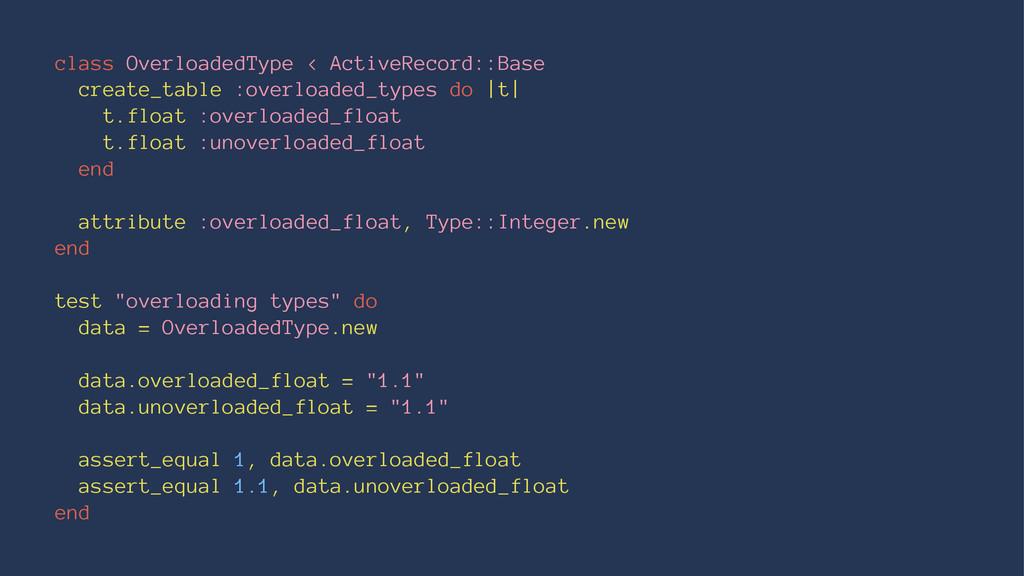 class OverloadedType < ActiveRecord::Base creat...