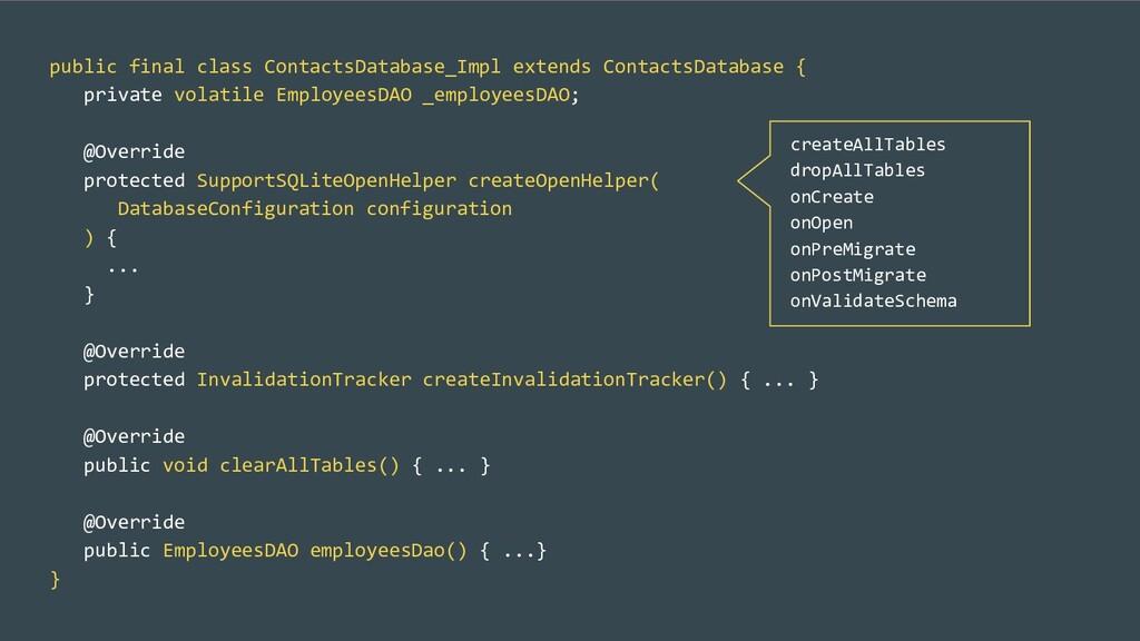 public final class ContactsDatabase_Impl extend...