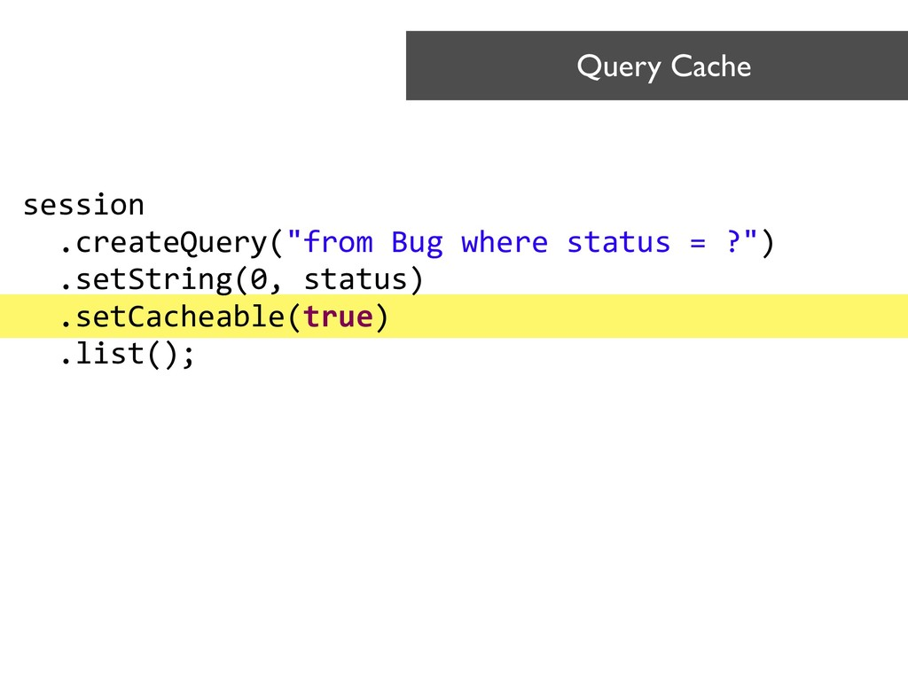 Query Cache session
