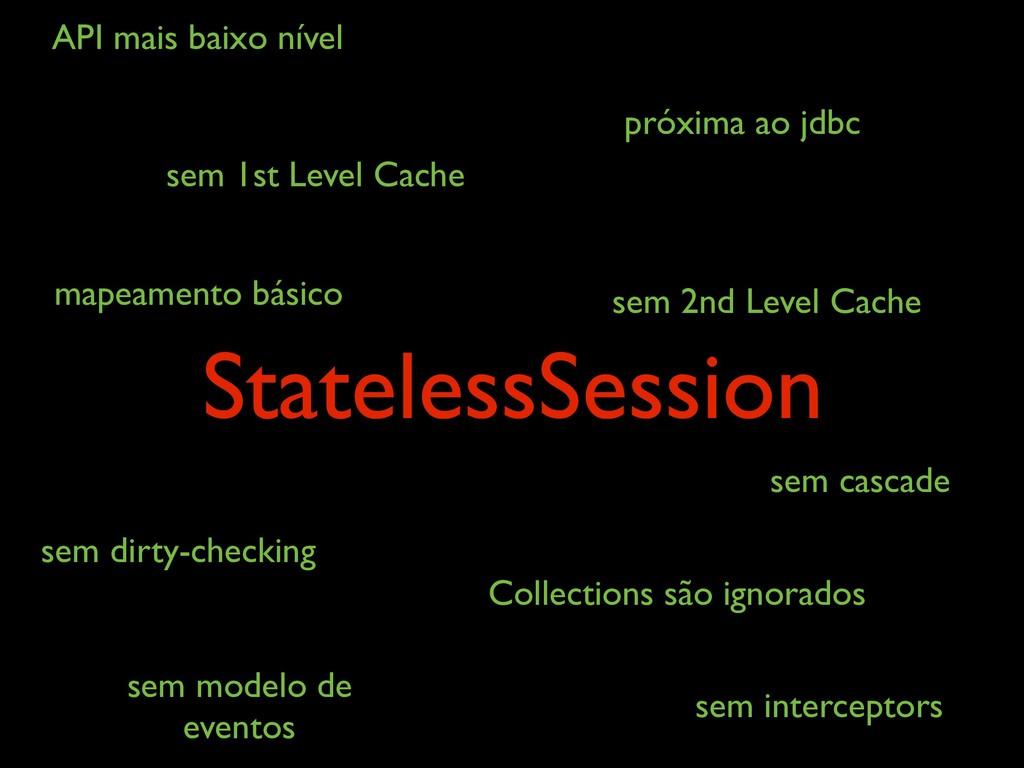 StatelessSession sem 1st Level Cache sem 2nd L...