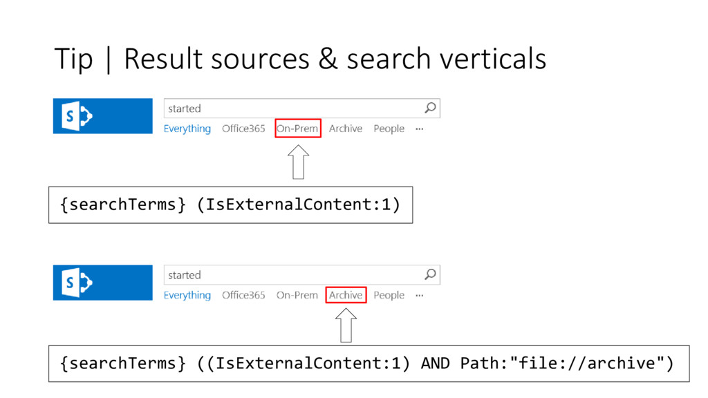 Tip | Result sources & search verticals {search...