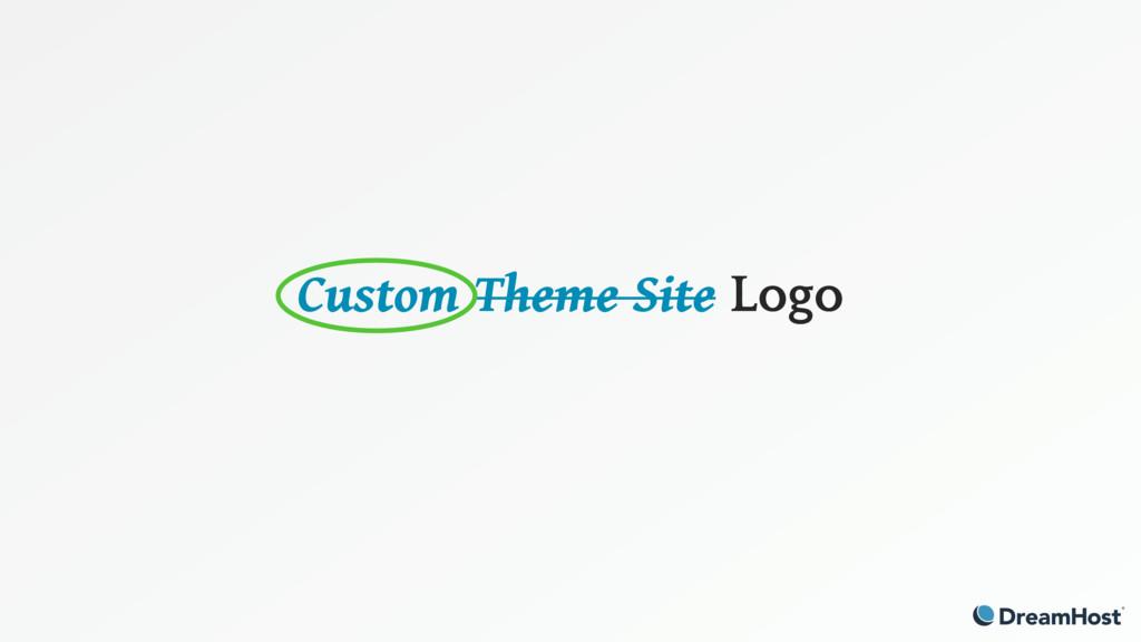 Custom Theme Site Logo