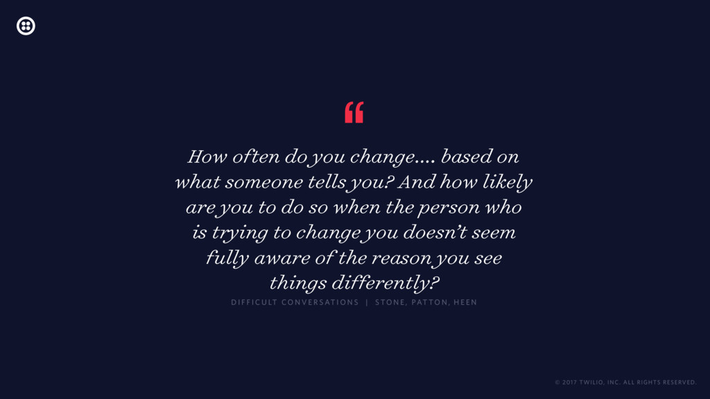 """"""" How often do you change…. based on what someo..."""