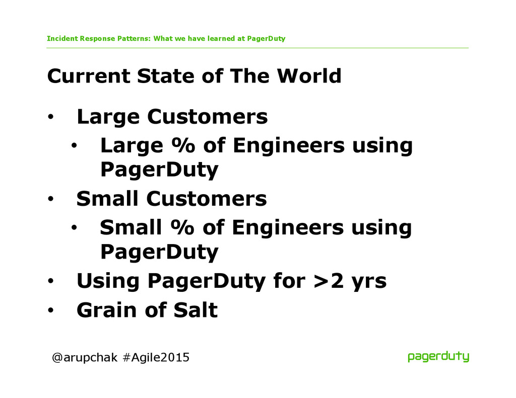 @arupchak #Agile2015 Current State of The World...