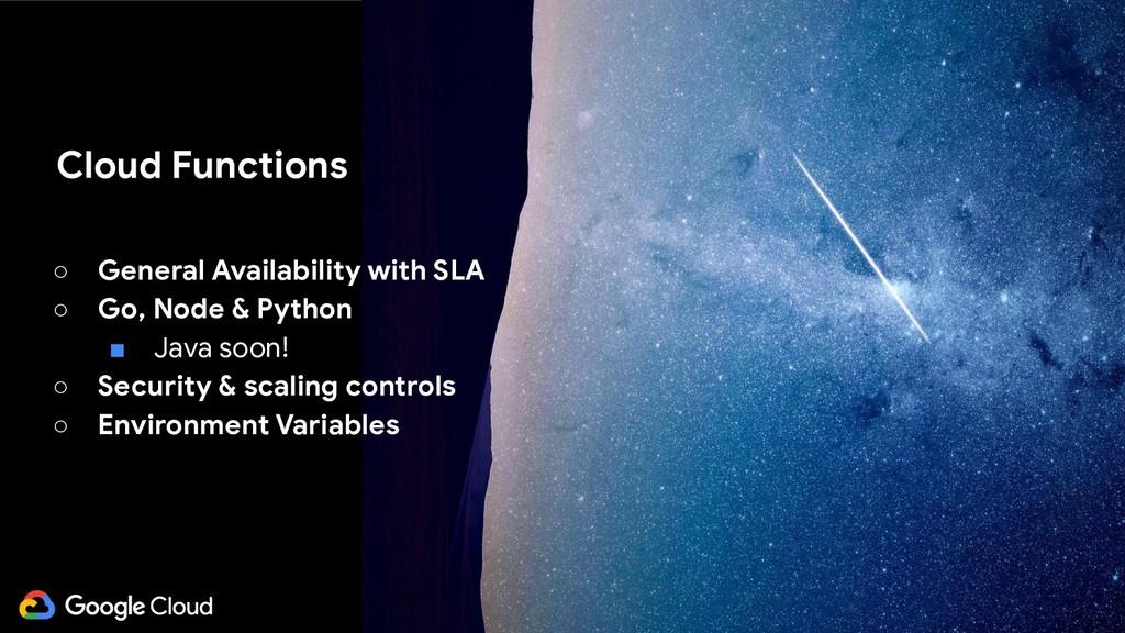 @glaforge ○ General Availability with SLA ○ Go,...