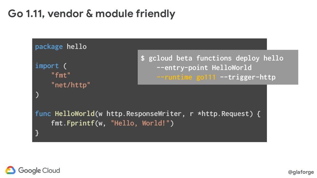 @glaforge Go 1.11, vendor & module friendly pac...