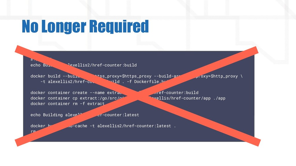 No Longer Required #!/bin/sh echo Building alex...