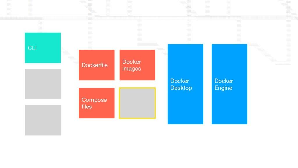 Docker Engine Docker Desktop Docker images Comp...