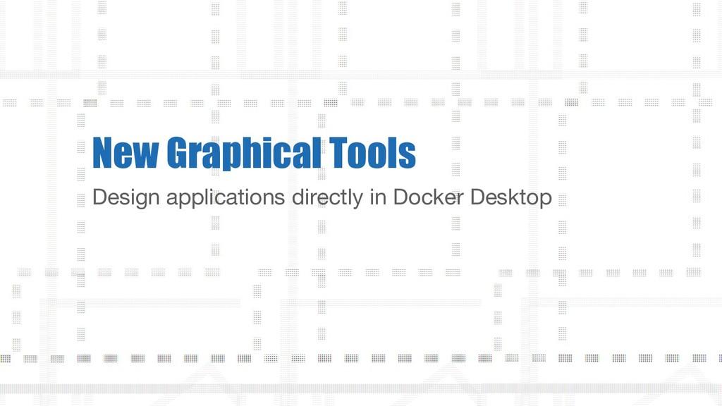 Design applications directly in Docker Desktop ...