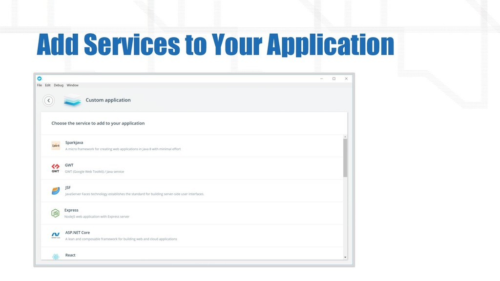 Add Services to Your Application