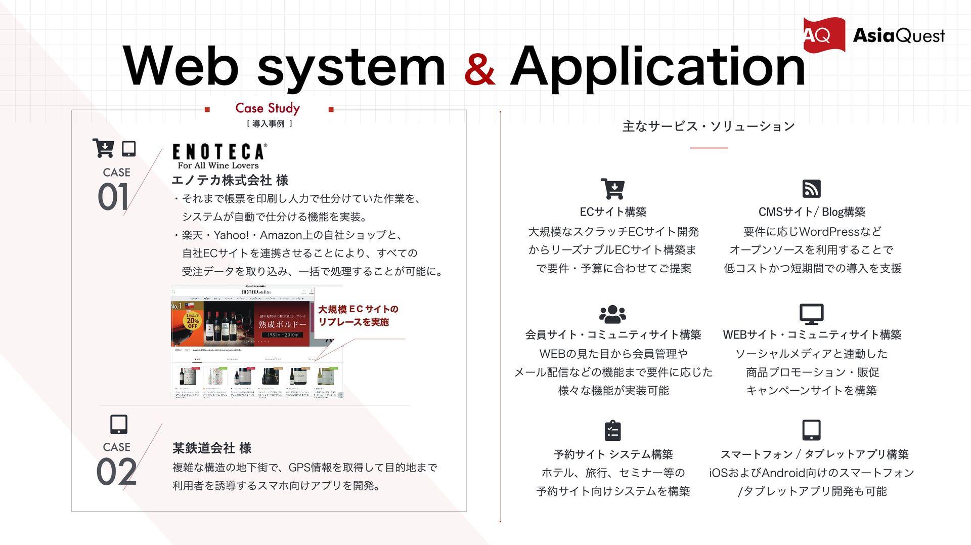 Web system & Application Case Study [ 導⼊事例 ] 複雑...