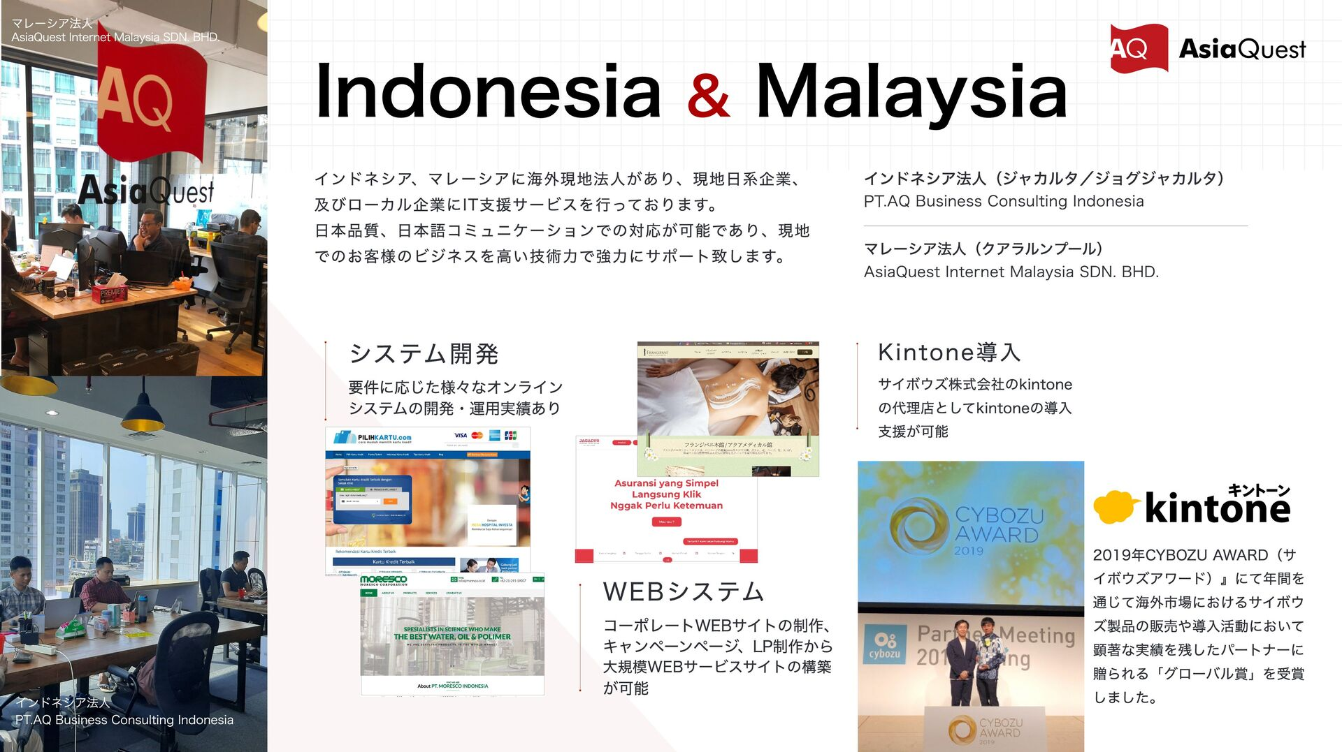 Indonesia & Malaysia インドネシア法⼈(ジャカルタ/ジョグジャカルタ) シ...