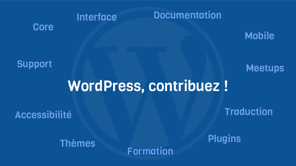 WordPress, contribuez ! Core Interface Support ...