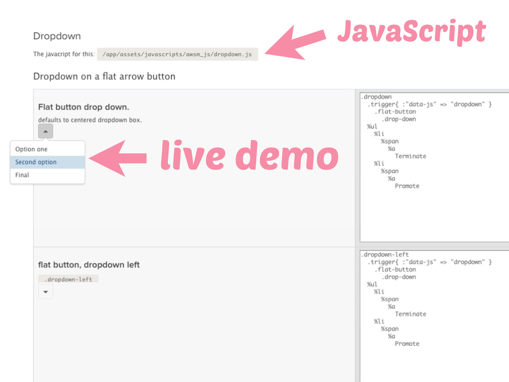 live demo JavaScript