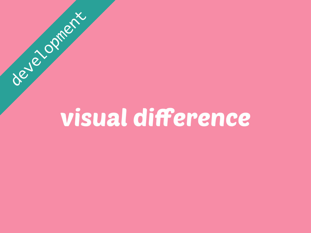 visual difference development